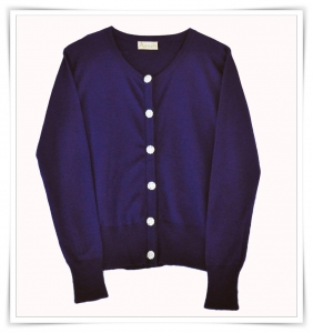 Asneh Cashmere Cardigan with Crystal Buttons