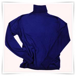Asneh dark sapphire blue roll-neck cashmere sweater AW2015