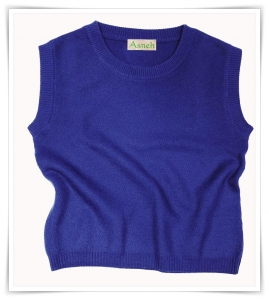 Honeycomb cashmere vest Asneh AW 2015 – 2016