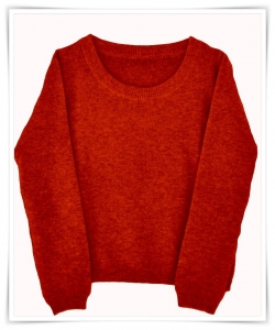 Cashmere honeycomb sweater red