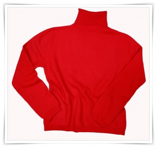 Red cashmere  Honeycomb Roll-neck Asneh AW 2015 – 2016