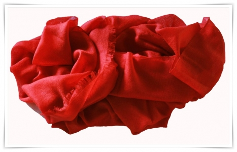 Red cashmere pashmina scarf