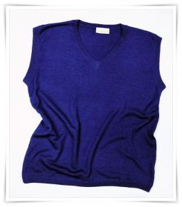 cashmere V-neck vest Eclipse Dark Blue Asneh AW 2015