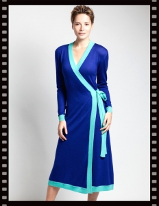 Asneh Anna Wrap-dress Cashmere