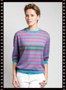 Asneh Ghita Striped Silk Cashmere Sweater