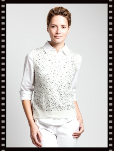 Asneh Gloria Sequin Cashmere Vest