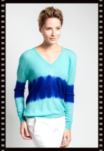 Asneh Layla Blue Cashmere Sweater