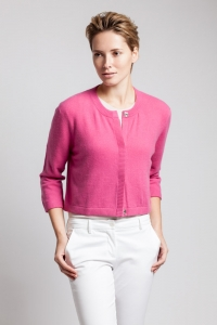 Asneh Emma cashmere cardigan with concealed button closure