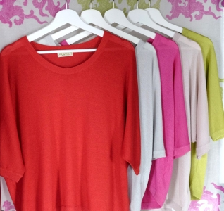 Asneh silk and cashmere batwing sweaters in beautiful colours