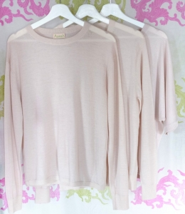 Asneh blush featherweight cashmere SS2016