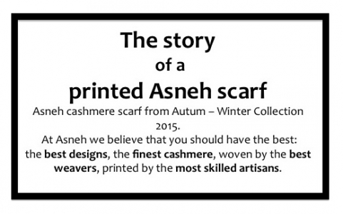 The story of a printed Asneh cashmere scarf