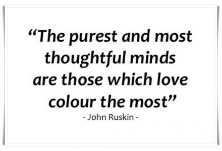 John Ruskin colour quote