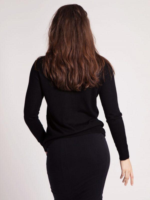 Black cashmere roll-neck Asneh