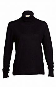 Asneh black cashmere roll-neck sweater