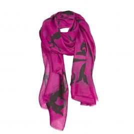 Asneh Lola pink cashmere scarf