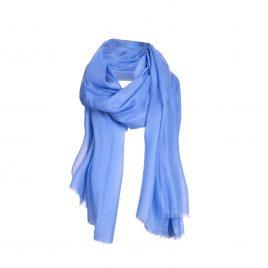 Asneh Lela blue cashmere scarf