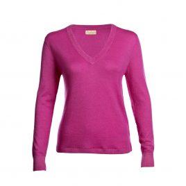 Asneh Mathilda Phlox Pink cashmere v-neck-min