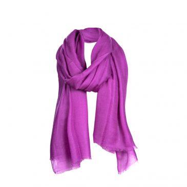 Asneh Purple Lela Cashmere scarf