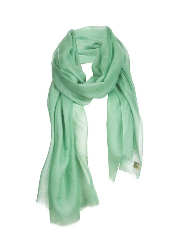 Asneh green Lela cashmere scarf-min