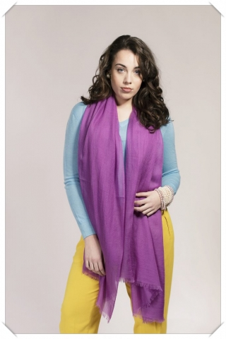 Purple Cashmere Pashmina Shawl