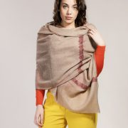 beige pashmina with embroidery