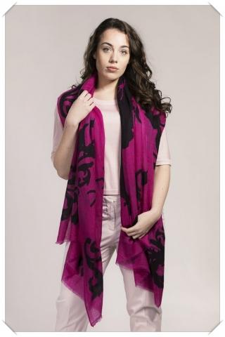 Pink Victorian Spider Love Print Cashmere Scarf
