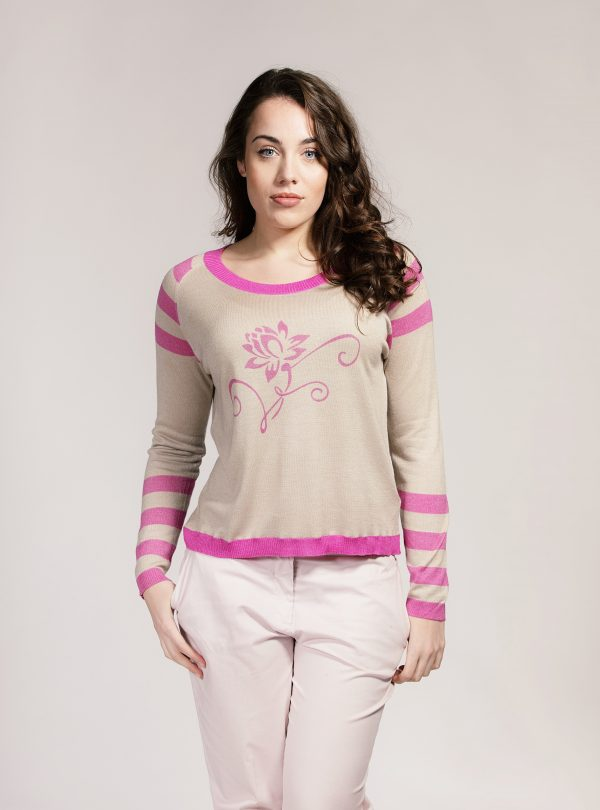 Pink lotus sweater