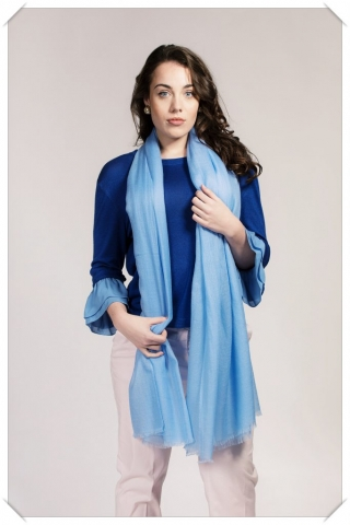 Light Blue Cashmere Shawl