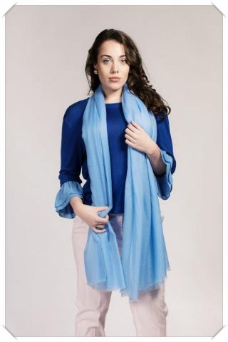 Light Blue Cashmere Shawl