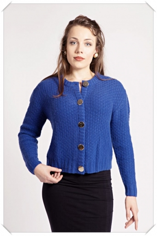 Blue cashmere cardigan by Asneh