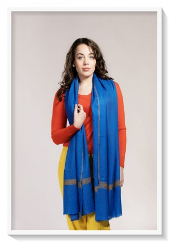 Friends of Asneh blue embroidered pashmina
