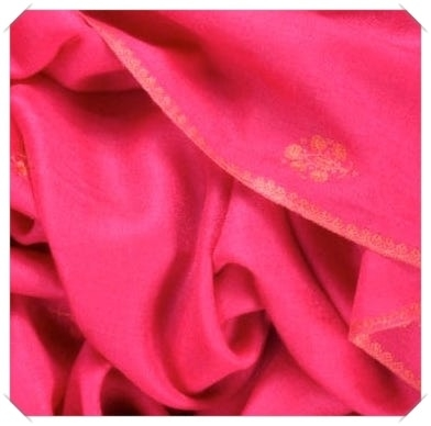 Red embroidered cashmere pashmina Friends of Asneh