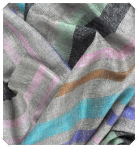 Striped cashmere pashmina Friends of Asneh