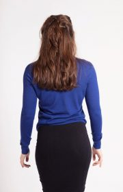 asneh dark blue cashmere sweater