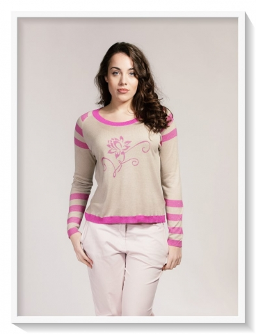 Asneh pink lotus sweater