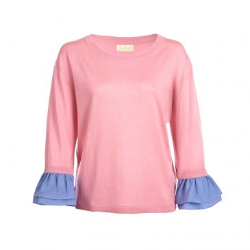 Asneh Agnes candy pink and cornflower blue-min