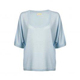 Asneh Gretha ballad blue batwing silk cashmere-min