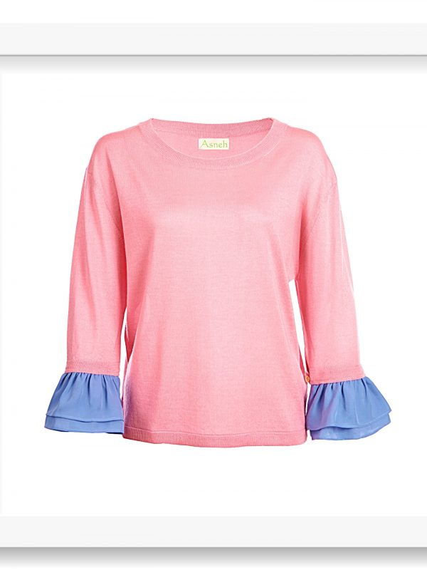 Asneh Agnes candy pink and cornflower bluu