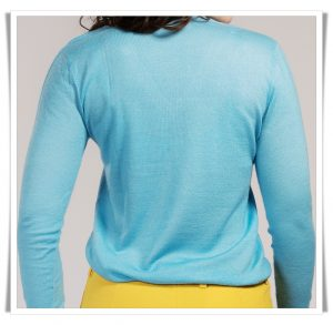 asneh fine knit cashmere in blue