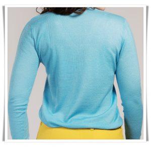 asneh fine knit cashmere in blue