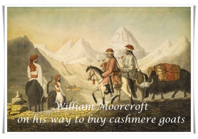 Moorcroft and companions on their way to buy cashmere goats