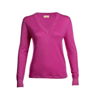 Pink fine knit cashmere sweater from Asneh.jpg