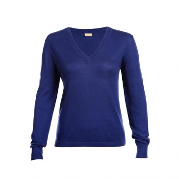 Blue fine knit cashmere sweater from Asneh