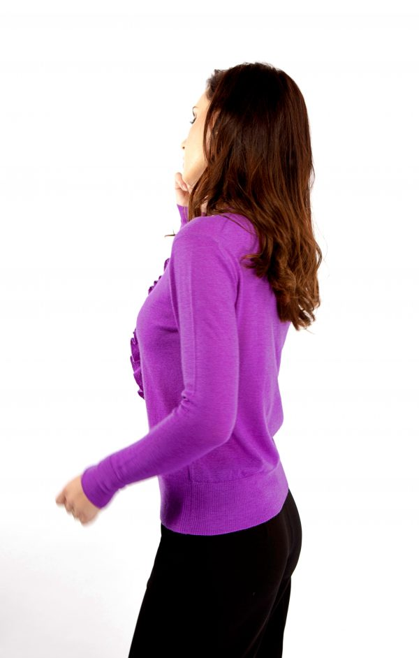 Purple cashmere sweater by Asneh