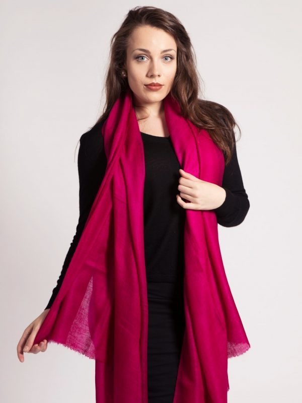 asneh large cerise red cashmere shawl