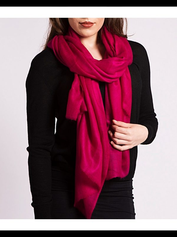 asneh large red cashmere scarf
