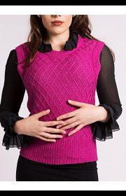 pink cashmere silk vest