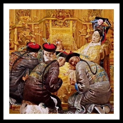 Empress Cixi attended by four physicians