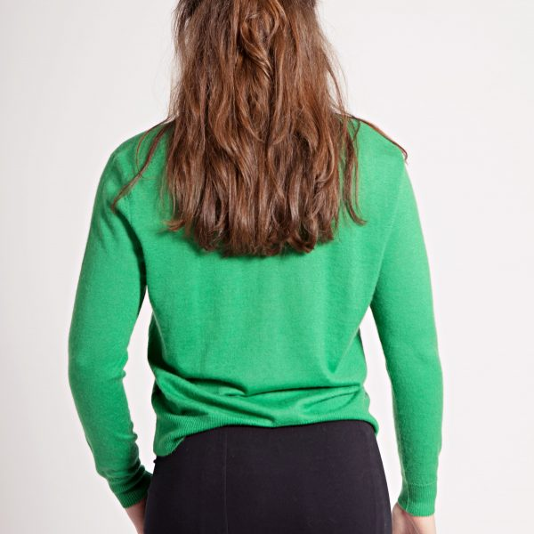 Green Krystle Cashmere Cardigan