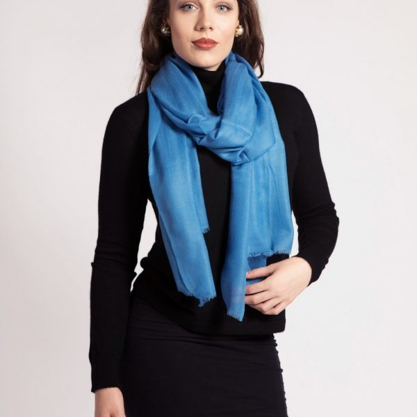 Blue Asneh Cashmere Scarf